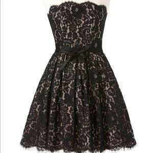 Black lace Neiman Marcus Target Robert R. dress
